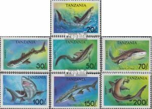 complete.issue. Tanzania 1583-1589 Flavor In Unmounted Mint / Never Hinged 1993 Sharks Fragrant