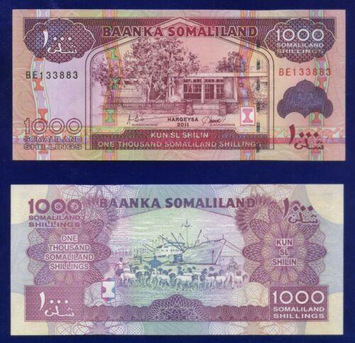 SOMALILAND 1000 SHILLINGS 2011 P20 UNCIRCULATED ES-3
