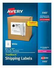 Avery 5165 Laser Full Sheet Labels 8 12 X 11 100 Labels Box