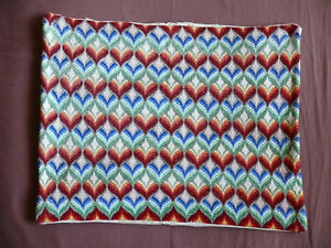 Antiques Dedicated #1633 Beautiful Vintage Hand Made Pillow Case 49cm/37cm 19''x14.5'' Pillows
