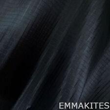 1 Yard Black Thin Waterproof Nylon Fabric PU Coated Ripstop For Kites Makings