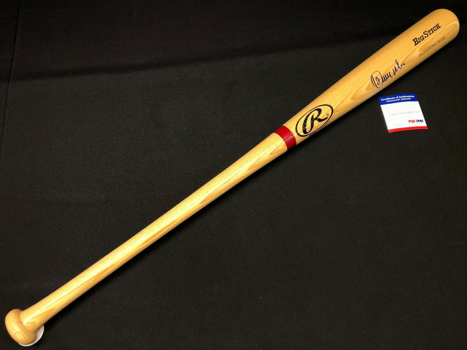 Erick Aybar Signed Ash Rawlings Big Stick Baseball Bat *Angels PSA 3A54379