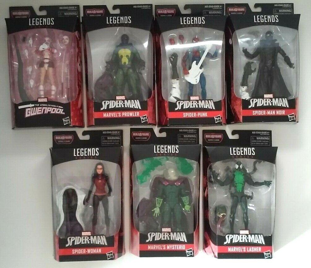 Marvel Legends Lizard action figure set of 7 Spiderman series 9 complete MIP