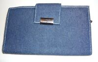 Mundi Checkbook Wallet, Denim