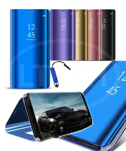 Para Samsung Galaxy S9 Duos Dual Sim-Elegante estuche Abatible Completo Espejo /& Mini Pluma