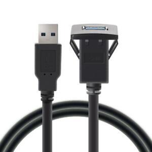 USB-3-0-Einbau-Buchse-Adapter-Anschluss-Verlaengerung-Kabel-KFZ-Auto-MP3-PC-SL