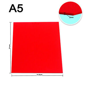 Details about HQ New A5 Red Plastic Acrylic Sheet 2mm For DIY Design Laser  Engraving