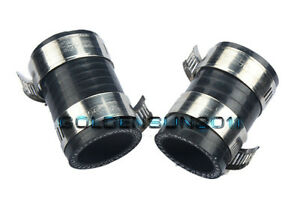 """High Temp Rubber Exhaust Clamps 1/""""ID Blue For Yamaha Blaster YFS200 ATV 2 Pieces"""