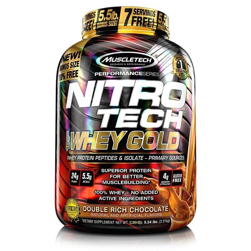 MuscleTech Nitro Tech 100% Whey oro 6 lb (approx. 2.72 kg) - entrega UK LIBRE