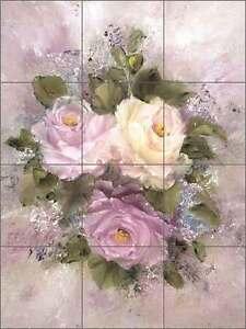 Cook-Roses-Flowers-Floral-Art-Ceramic-Tile-Mural-Kitchen-Shower-Backsplash-CC007