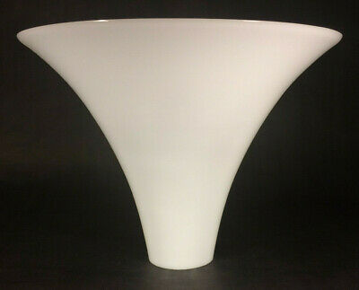 "New 10/"" Opal White Milk Glass Rib Swirl Student Lamp Shade USA made #SH010"