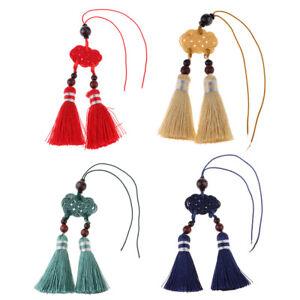 50pcs Mixed Silk Tassels Charms Satin Tassel for Bookmark Craft Making 4cm