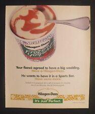 1995 Haagen-Dazs Ice Cream~Frozen Yogurts Trade Print Ad