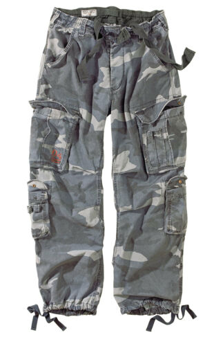 Midnight Trousers Airborne Vintage Blue Camo Pants Night Cargo Raw Surplus Army qwdpx8n5