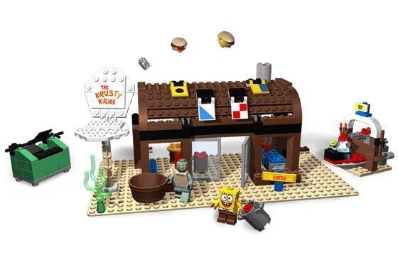 LEGO 3825 - SpongeBob Squarepants - Krusty Krab - 2006 - NO BOX
