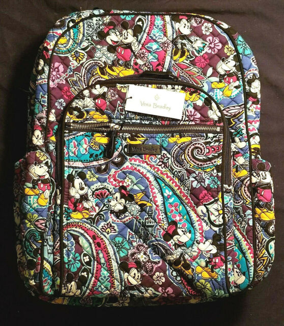 f1ce5a01b214 Vera Bradley Disney Mickey s Paisley Celebration Iconic Campus Backpack  Minnie