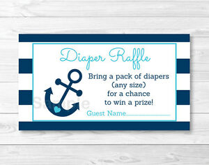 image is loading nautical anchor printable baby shower diaper raffle tickets