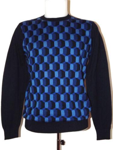 Discount 50/% ben Sherman Crewneck Shirt Cotton Me11748 XS XL Circular Geo Jumper
