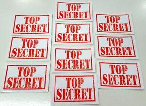 Top Secret Stickers - Spy Secret Agent Party Bag Fillers Pack Sizes 10 - 100