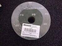 10z939 Arbor Sanding Disc, 4-1/2in, 80grit, Pk25 (h18b)