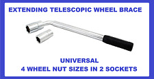 WHEEL BRACE WRENCH EXTENDABLE REMOVER 17MM 19MM 21MM 23MM nut bolt tool