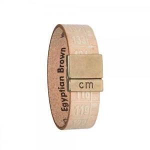 IL-CENTIMETRO-Bracciale-donna-Egyptian-Brown-C954S-pelle-beige-dorata-originale