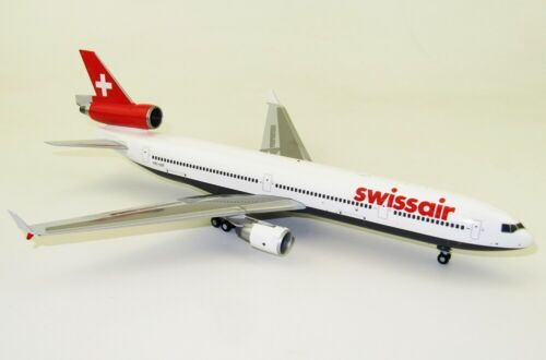 JC WINGS LH2125 1/200 SWISSAIR MCDONNELL DOUGLAS MD-11 HB-IWF WITH STAND