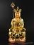 thumbnail 1 - Chinese Resin Gild Buddhism Ksitigarbha Boddhisattva Budhha Hold Crosier Statue