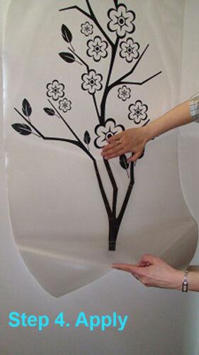 World Map WALL STICKER Big Sizes 56 Colours Decor Nature Flowers Craft Art P16