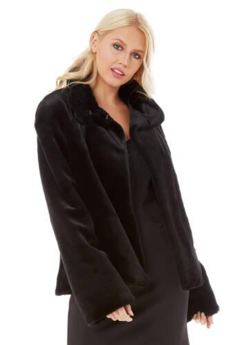 longues ᄄᄂ noire fourrure en et manches Veste Originals longues synthᄄᆭtique manches ᄄᄂ Donna TlcuFJ1K3