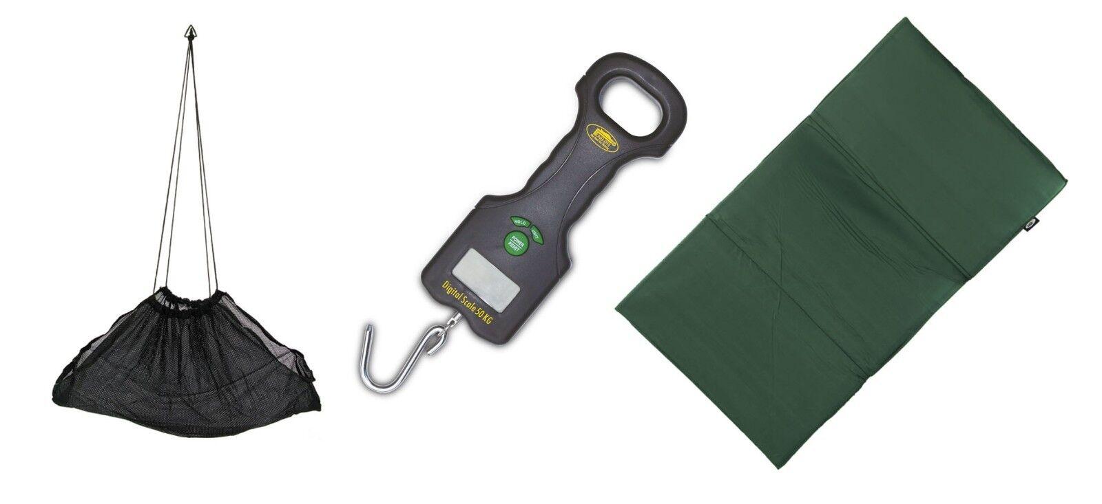 Carp Fishing Weighing Bundle Digital Scales,Sling & Unhooking mat specimen fish