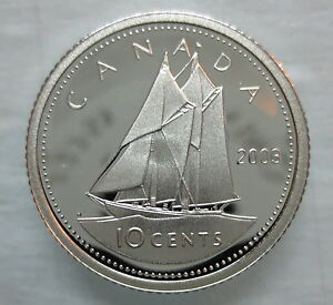 2003-CANADA-10-CENTS-PROOF-SILVER-DIME-HEAVY-CAMEO-COIN