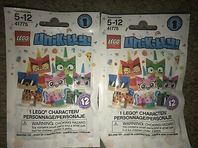 Collectible Minifigures Series 1 LOT OF 3 Blind Packs LEGO 41775 Unikitty