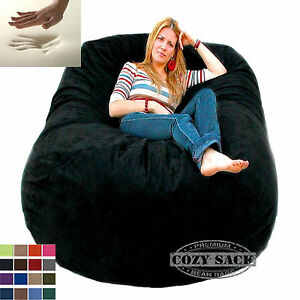 Image Is Loading Giant Bean Bag Chair 6 039 Cozy Foam
