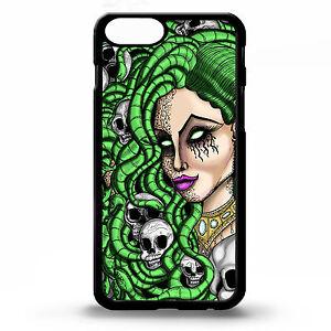 Medusa Pin Up Girl Snake Skull Greek God Tattoo Graphic Art Phone