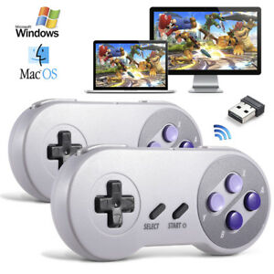 Details about Wireless SNES USB Controller Gaming Joystick for PC Windows  10 MAC Laptop Games