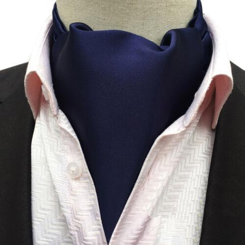 Mens Solid Color Fashion Long Scarves Cravat Ascot Ties Gentlemen Neckties New