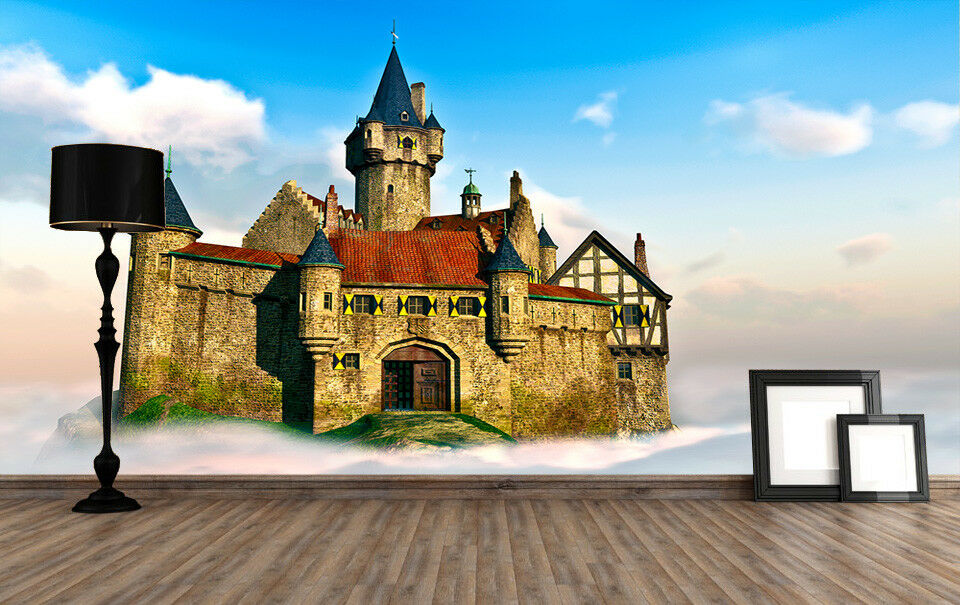 3d Cloud Castle 94 wandpaper Mural wandpaper wandpaper Picture Family De