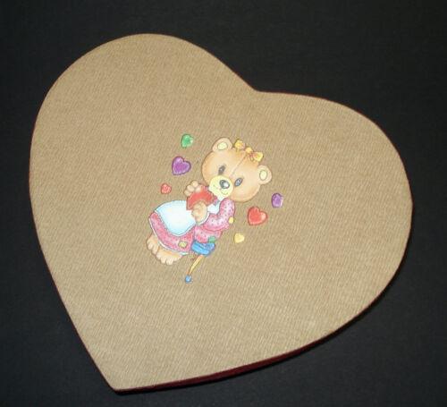 4x Herzdosen Bärchen Design Geschenkbox Geschenkschachteln Geschenkkarton Teddy