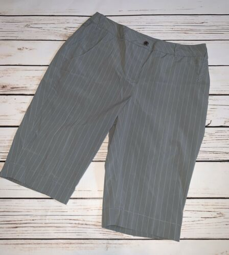 Annika Cutter and Buck Gray Pinstripe Shorts, Size