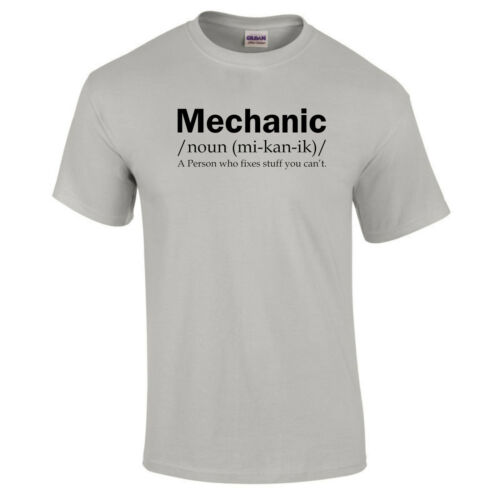 MECHANIC DEFINITION Mens Garage Car Dad Grandad Christmas Birthday Gift T Shirt