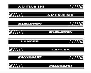 Pair Mitsubishi Lancer Ralliart Or Evolution Sticker Car Side