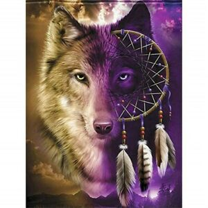 5D Wolf Full Drill Diamond Painting Mural Decor Art Crafts  Embroidery Kits
