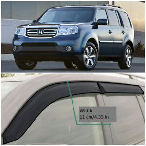 HE11508 Window Visors Sun Guard Vent Wide Deflectors For Honda Pilot ... cf46a4aa4c3