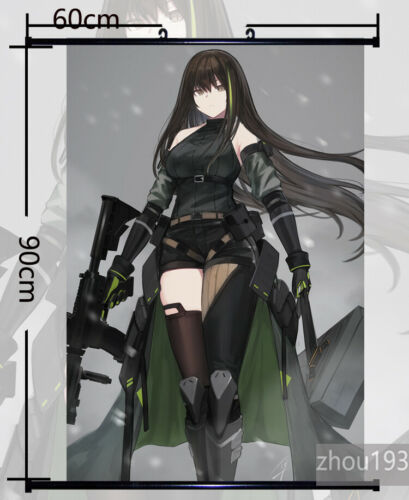 Anime Girls Frontline m4a1 Wall Scroll Poster Home Decor Holiday Gift 60*90CM#39
