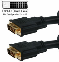 Heavy Duty Dvi-d (dual Link)male Digital Video Cl2 Cable For Computer Hd Monitor