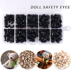 150X-plastique-yeux-de-jouets-en-peluche-poupee-ours-fabrication-artisanale-vis