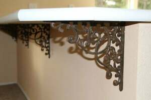 Details about (4) Kitchen Island Counter top Accent Corbels Brackets Cast  Iron XL 13\
