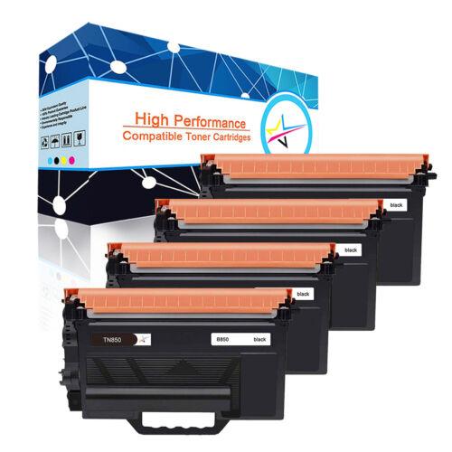 4 Pack TN850 Black Toner Cartridge for Brother HL-L6400DW  MFC-L6700DW L6800DW