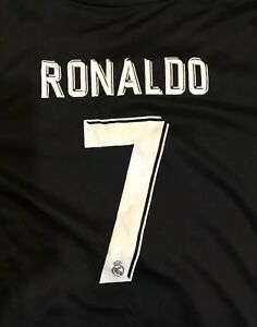 hot sale online 3daaf b51c3 Details about Real Madrid Ronaldo Blue Kids Youth Jersey + Shorts Set: size  8,10,12,14 kids